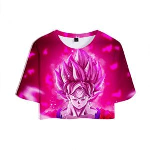 Dragon Ball Z Powerful Super Saiyan Rosé Son Goku Crop Top