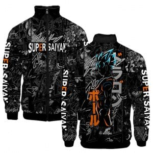 Dragon Ball Z Son Goku Livid Side View Image Varsity Jacket