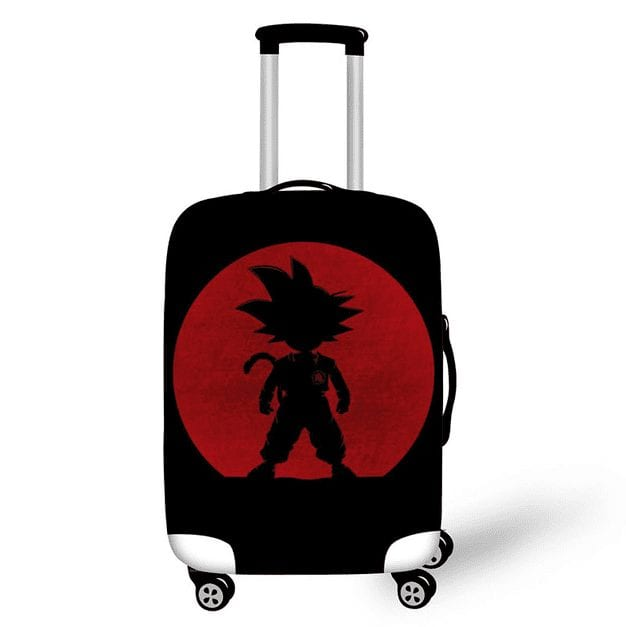 Kid Goku Silhouette Red & Black Luggage Protective Cover