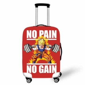 SSJ1 Son Goku No Pain No Gain Travel Suitcase Cover