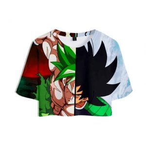 Dragon Ball Z Two Modes of Furious Broly 3D Printed Crop Top