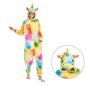 Colorful Unicorn Star Kigurumi Design Onesie Pajama