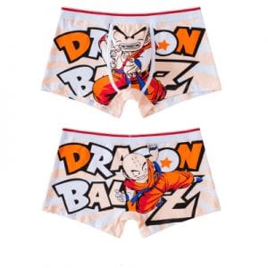 Dragon Ball Z Krillin Fighting Stance Boxer Shorts