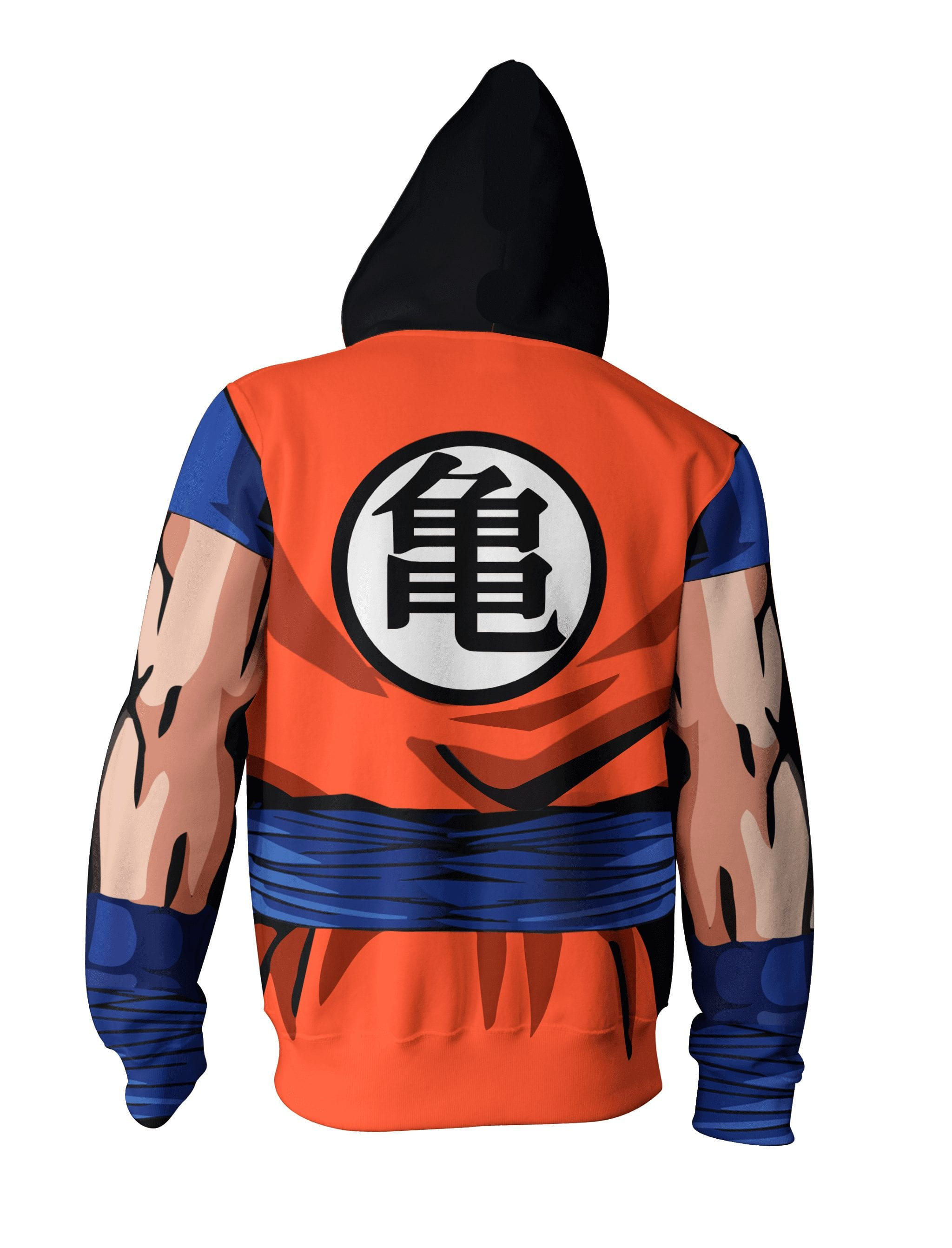 Dragon Ball Z Cool Master Roshi Buffed Orange Uniform Zip Up Hoodie