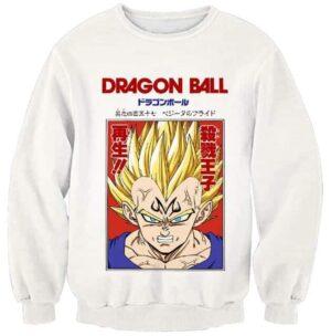 Dragon Ball Z Powerful Saiyan Majin Vegeta White Sweater