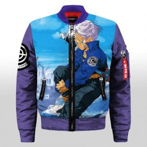 Dragon Ball Future Trunks Capsule Inc Blue Varsity Jacket