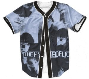 The Psychedelic Furs Rock Band Cover Black Baseball Jersey