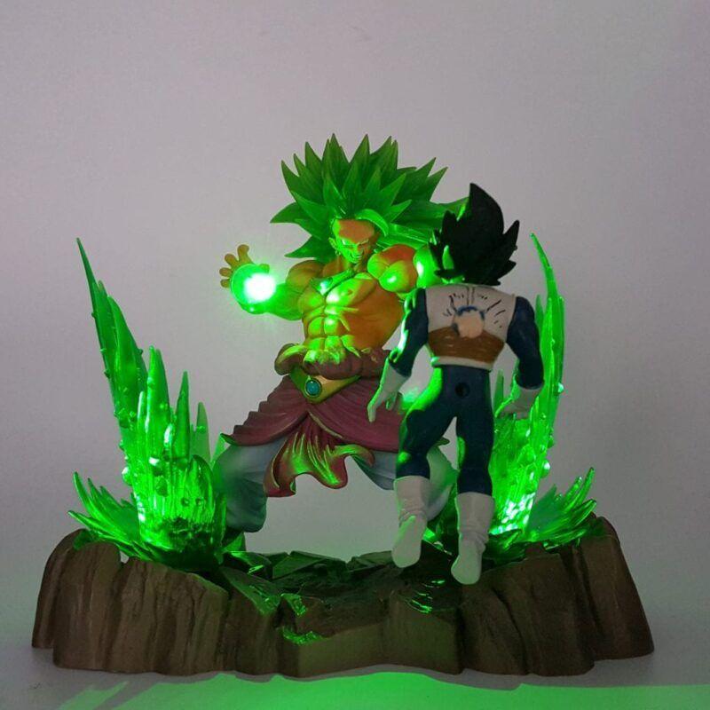 DBZ Broly Omega Blaster Wounded Vegeta Green DIY 3D LED Light Lamp