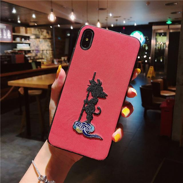 Dragon Ball Kid Goku Cloud Red iPhone 11 (Pro & Pro Max) Case