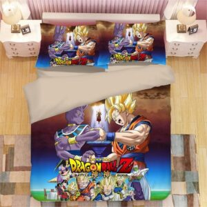 Dragon Ball Z Battle Of Gods Goku And Beerus Bedding Set
