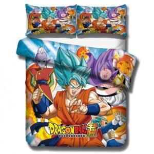 Dragon Ball Super Son Goku SSGSS Vegeta & Buu Bedding Set