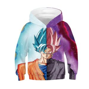 Dragon Ball Z Goku Super Saiyan God & Goku Black Kids Hoodie