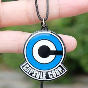 Dragon Ball Z Capsule Corp Logo Pendant Blue & White Necklace