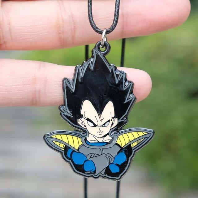 Dragon Ball Z Vegeta Base Form Pendant Design Necklace