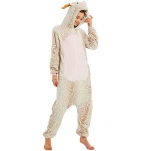 Cute Père David's Deer Onesie Design Kigurumi Pajama