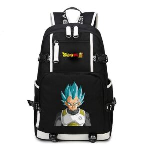 DBZ Vegeta Super Saiyan Blue Gray Battle Suit Backpack