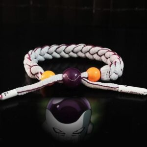 DBZ Villain Frieza Inspired White Nylon Braided Bracelet