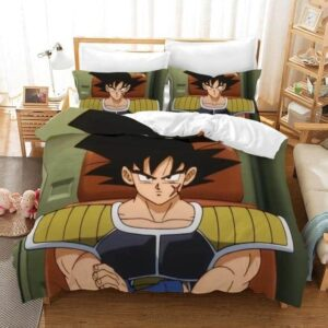 DBZ Bardock Saiyan Warrior & Goku's Father Bedding Set