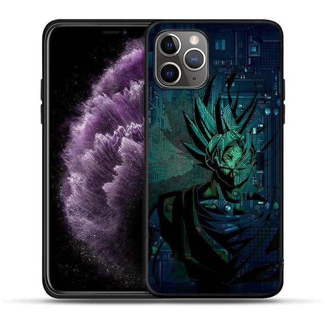 Goku Circuit Board Background iPhone 11 (Pro & Pro Max) Case