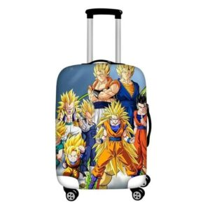 Super Saiyan Family Saiyan Forms Protective Suitcase Cover