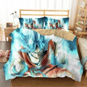 Son Goku SSGSS DBZ Ressurection F Light Blue Bedding Set