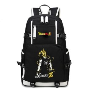 DBZ Son Goku's Silhouette Yellow Aura Backpack Bag