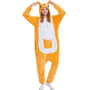 Kangaroo Design Kigurumi With Pocket Onesie Pajama