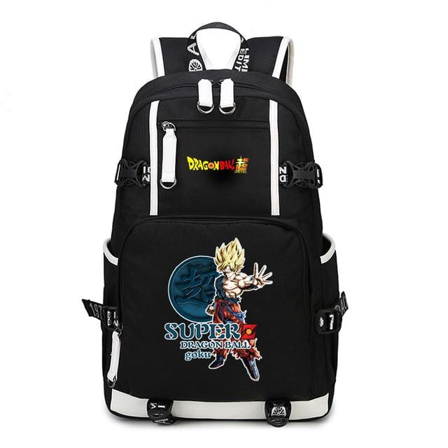 Dragon Ball Super Bruised Son Goku Kanji Backpack Bag