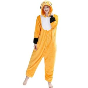 Sly Closed Eye Fox Kigurumi Orange Costume Onesie Pajama
