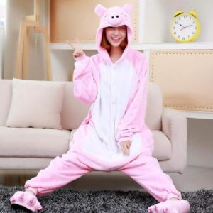 Awesome Onesie Cheerful Pink Pig Face Kigurumi Pajama