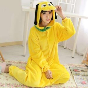 Disney's Pluto The Pup Onesie Yellow Kigurumi Pajama