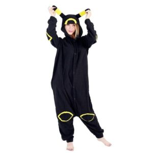 Pikachu Kigurumi With Yellow Lining Black Onesie Pajama