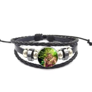 Bruised Broly Super Saiyan Form Leather Bangle Bracelet
