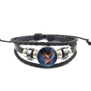 Son Goku Fighting Pose Fan Art Bangle Braided Bracelet