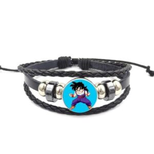 Dragon Ball Z Angry Son Gohan Leather Braided Bracelet