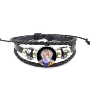 DBZ Son Goku SSJ Yellow Aura Bangle Braided Bracelet