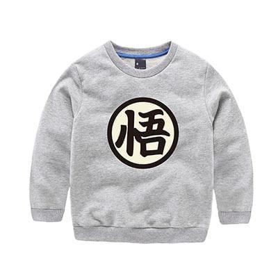Dragon Ball Z Son Goku's Wisdom Kanji Logo Kids Sweatshirt