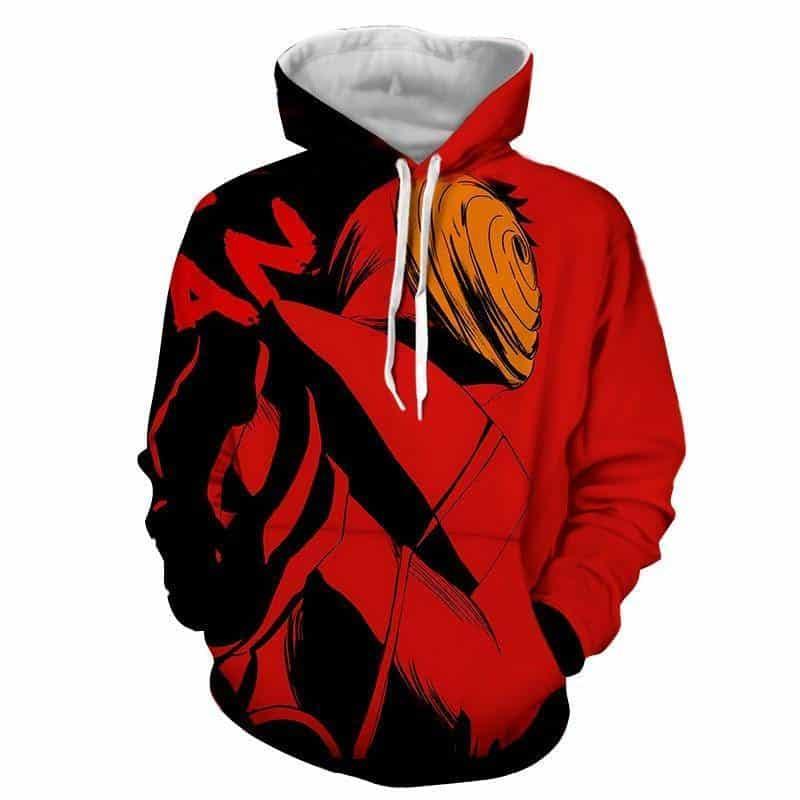 Naruto Akatsuki Obito Mask Dope Design Streetwear Hoodie