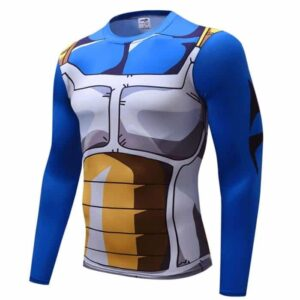 Vegeta Cell Saga Battle Saiyan Armor Long Sleeves Compression 3D Shirt