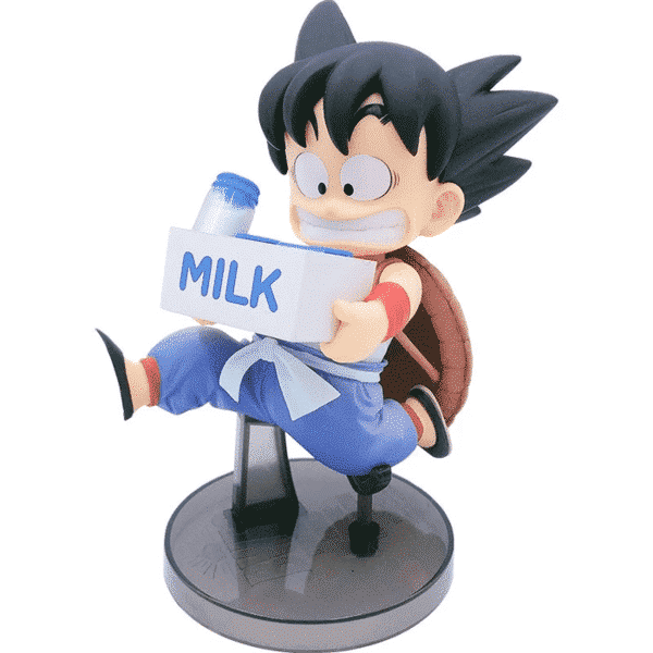 Running Kid Goku Holding Milk Action Figure
