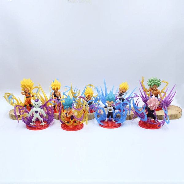 Saiyan Characters Broly Frieza Action Figure Set