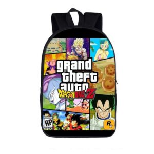 DBZ Grand Theft Auto Fantastic Fan Art Design Backpack Bag