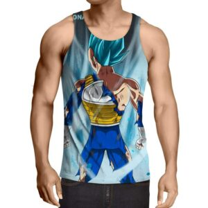 Dragon Ball Vegeta Blue Super Saiyan Epic Fitness Tank Top
