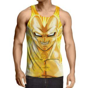 Dragon Ball Vegeta Super Saiyan 3 Cool Yellow Gym Tank Top