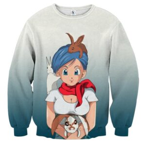 Dragon Ball Z Bulma Cute Adorable Pet Bunnies Rabbit Sweater