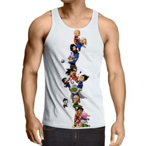 Dragon Ball Z Cute Adorable Chibi DBZ Characters Tank Top