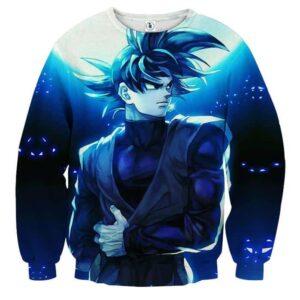 Dragon Ball Super Goku Black Cool Night Blue Sea Sweatshirt