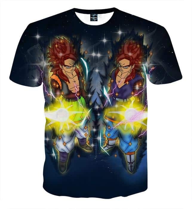 Dragon Ball Z Gogeta In Red Hair Super Saiyan 4 Form T-Shirt