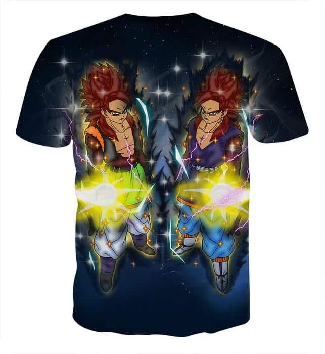Dragon Ball Z Gogeta In Red Hair Super Saiyan 4 Form T-Shirt