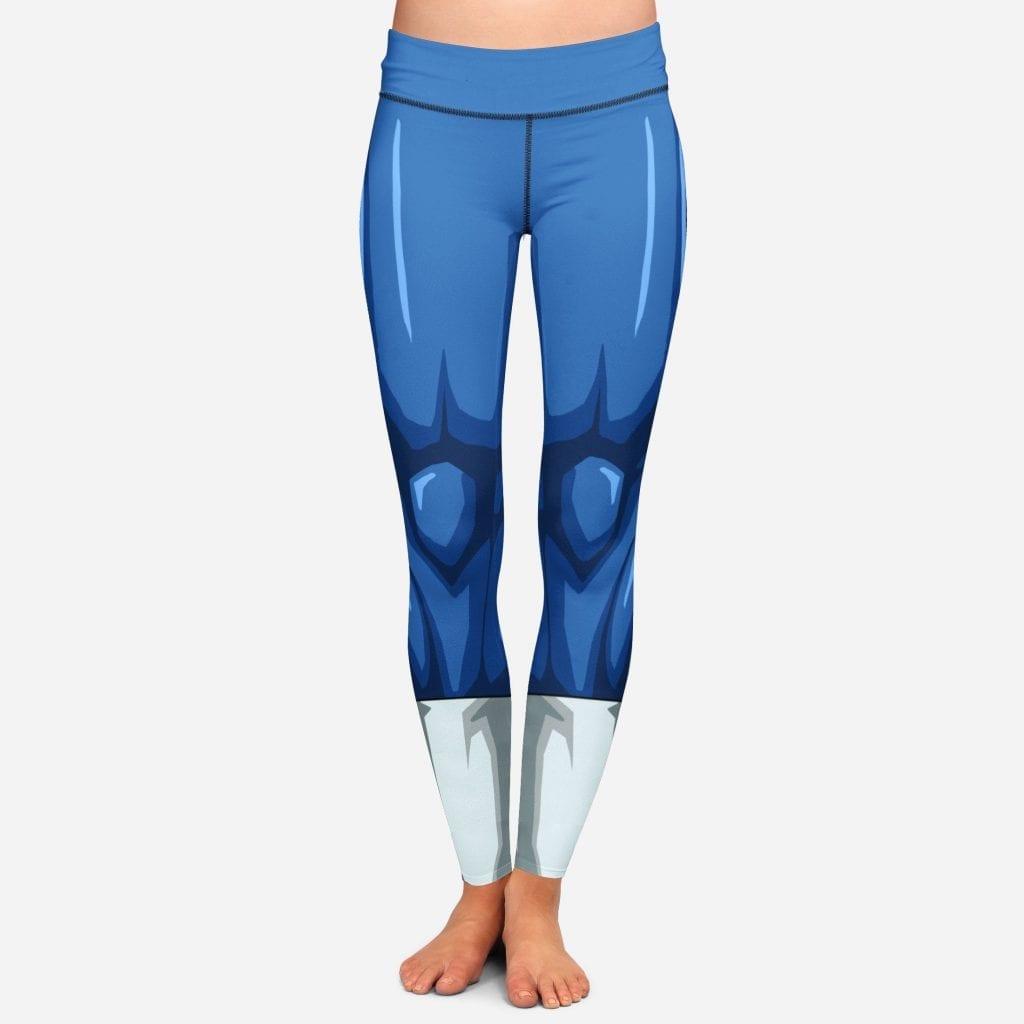 DBZ Vegeta Women Cosplay Blue Leggings